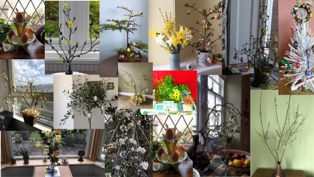 Collage of Easter Trees
