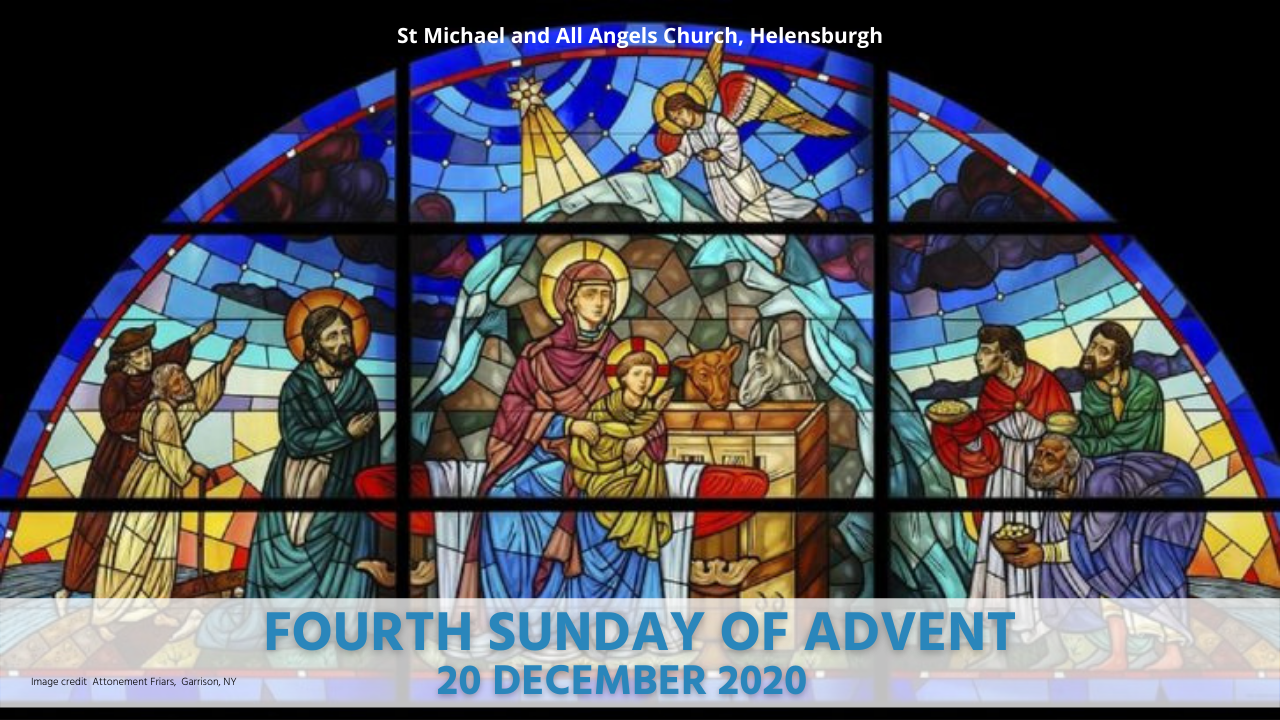 Stained Glass Window Fourth Sunday of Advent 2020